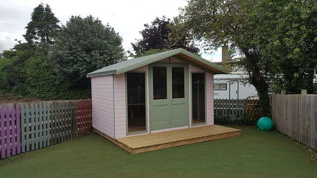 Garden office for home working